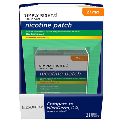 Picture of Simply Right Nicotine Patch Step 1 21 Ct