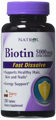 Picture of Natrol Biotin 5000mcg Extra Strength 250 Ct.