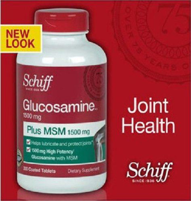 Picture of Schiff Glucosamine Plus MSM 1500 Mg Per 2 Tablets: 200 Coated Tablets - Sms15