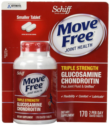 Picture of Schiff Move Free Joint Health Dietary Supplement Triple Strength 170 Tablets