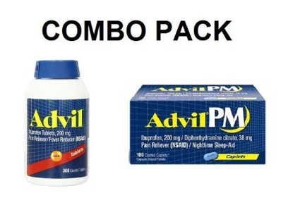 Picture of Cs-35 Advil 200 Mg Pain Reliever/ Fever Reducer 360 Coated Tablets + Advil Pm 200 Mg Pain Reliver/ Sleep Aid 180 Coated Tablets