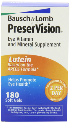 Picture of Bausch + Lomb Preservision Eye Vitamin & Mineral Supplement with Lutein