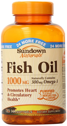Picture of Sundown Naturals Fish Oil, 1000 mg, 144 Softgels (Pack of 2)