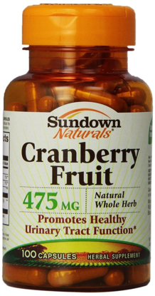Picture of Sundown Naturals Cranberry Fruit Capsules 475 mg 100 Count Bottle