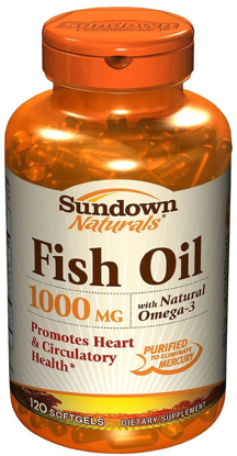 Picture of Sundown Naturals 1000 Mg Fish Oil Capsules - 120 Ea, Pack of 3