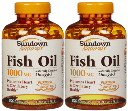 Picture of Sundown Naturals Fish Oil, 1000 mg, 200 Softgels (Pack of 2)
