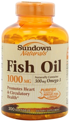 Picture of Sundown Naturals Dietary Supplement Fish Oil 1000mg - 200 Softgels