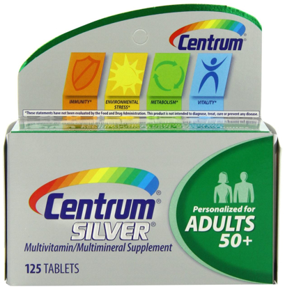 Picture of Centrum Silver Multivitamin Supplement, Adult, 125 Count