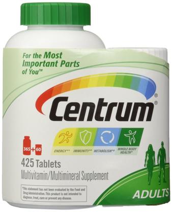 Picture of Centrum Multivitamin formul 425 TOTAL TABLETS including a bonus travel size bottle