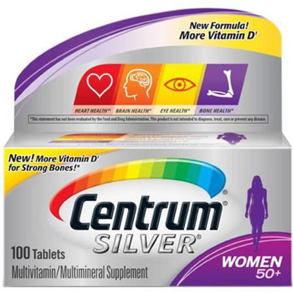 Picture of Centrum® Silver® Women 50+ 100 tabs