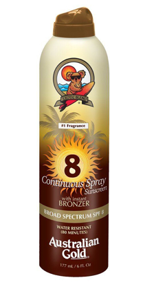 Picture of Australian Gold SPF 8 Continuous Spray Bronzer, 6 Ounce