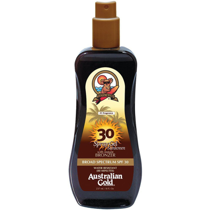 Picture of Australian Gold SPF 30 Spray Gel with Bronzer 8 Ounce