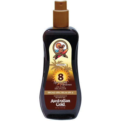 Picture of Australian Gold SPF 8 Spray Gel with Bronzer, 8 Ounce
