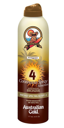 Picture of Australian Gold SPF 4 Continuous Spray Bronzer, 6 Ounce