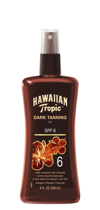 Picture of Hawaiian Tropic Sunscreen Dark Tanning Oil Sun Care Sunscreen Spray - SPF 6, ...
