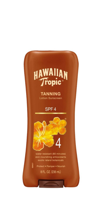 Picture of Hawaiian Tropic Sun Tanning Sunscreen Lotion, SPF 4 - 8 oz