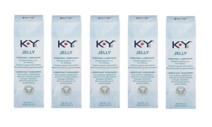 Picture of Ky Jelly Personal Lubricant: 5 Packs of 2 Oz
