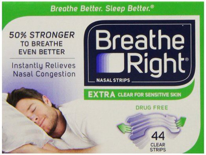 Picture of Breathe Right Nasal Strips Extra Clear for Sensitive Skin 44 Clear Strips