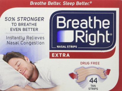 Picture of Breathe Right Extra Strong Nasal Strips One Size Fits All, Tan (44 ct)