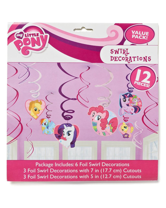 Picture of American Greetings Amscan AMI 675513 My Little Pony Swirl Decorations