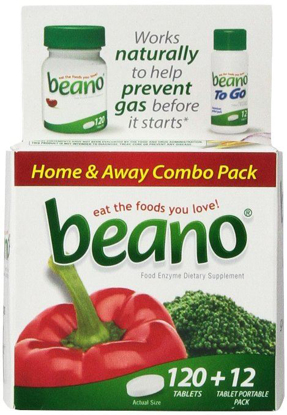 Picture of Beano Home Away Combo Pack-120 Tabs +12 Portable Pack