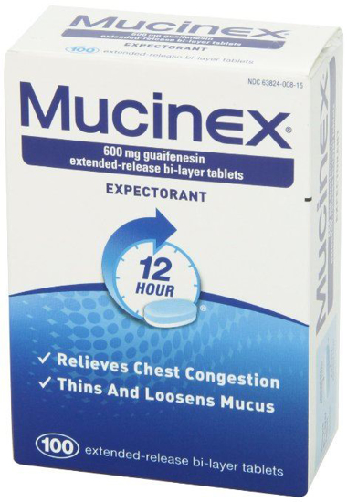 Picture of Mucinex 12-Hour Chest Congestion Expectorant Tablets, 600mg 100 Count