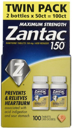 Picture of Zantac 150 Maximum Strength Tablets, Regular, 100 Count