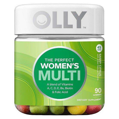 Picture of Olly, The Perfect Women's Multi, Dietary Supplement, Sassy Citrus, 90 Gummies