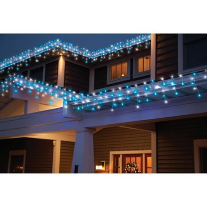 Picture of Holiday Time 70-Count LED Star String Christmas Lights, Cool White/Blue