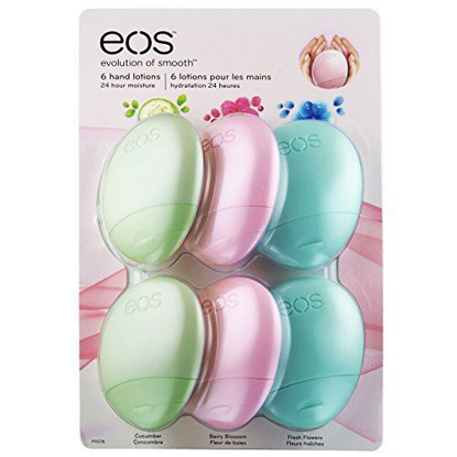 Picture of EOS Hand Lotion Variety Pack Cucumber Berry Fresh Flowers 6 Count