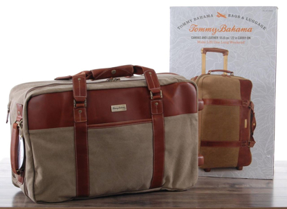 "Picture of Tommy-Bahama-Canvas-Leather-22-Carry-ON  Tommy-Bahama-Canvas-Leather-22-Carry-ON  Tommy-Bahama-Canvas-Leather-22-Carry-ON Have one to sell? Sell now Tommy Bahama Canvas Leather 22"" Carry ON"