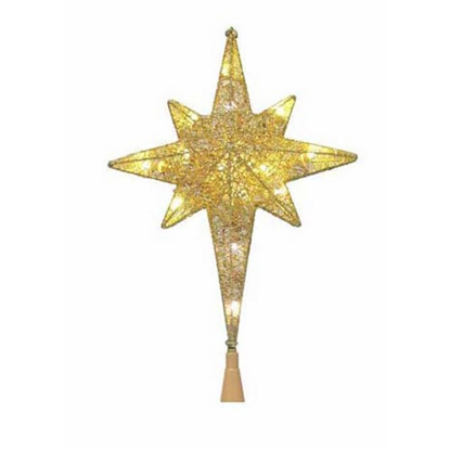 Picture of Sylvania Star of Bethlehem LED Tree Topper - Assorted Golden