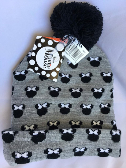 Picture of Disney Minnie Mouse All Over Beanie Head Wear Grey and Black