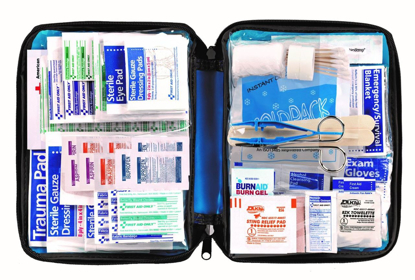 Picture of First Aid Only All-purpose First Aid Kit, Soft Case with Zipper, 299-Piece Kit, Large, Blue