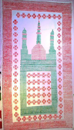Picture of Hand Stitched Prayer Rugs Cotton