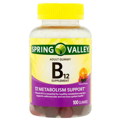 Picture of Spring Valley Adult Gummy B12 500 mg Per Serving 100 ct Metabolism Support