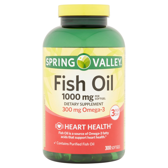 Picture of Spring Valley - Fish Oil 1000 mg, 300 Softgels