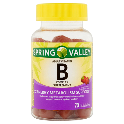 Picture of Spring Valley B-Complex Adult Gummy 70 Count  Natural Wild Strawberry Flavor