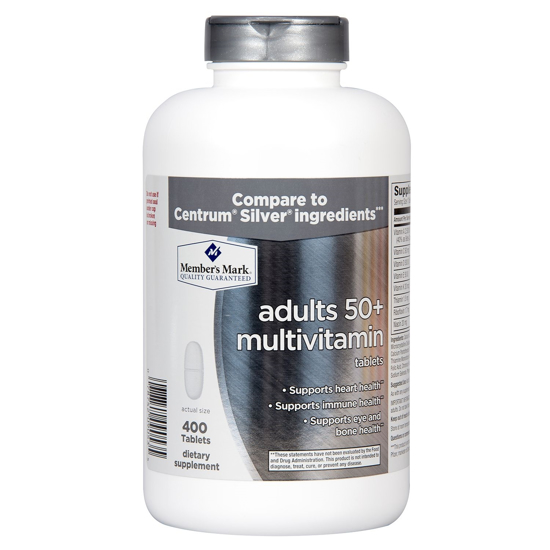 Picture of Member's Mark Adults 50+ Multivitamin Tablets (400 Tablets)