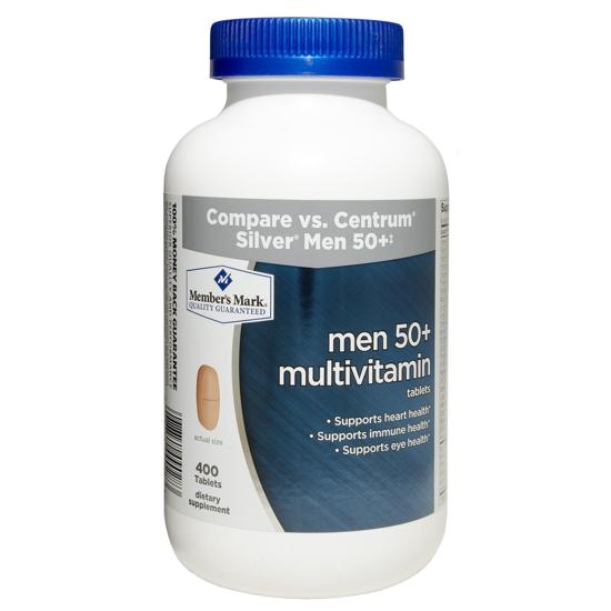 Picture of Member's Mark - Men 50+ Multivitamin, 400 Tablets (Compare to Centrum)