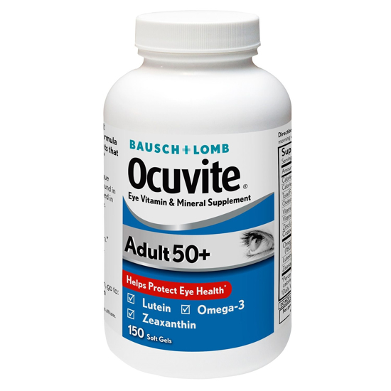 Picture of Bausch & Lomb Ocuvite Adult 50+ Eye Vitamin & Mineral Supplement - 150 Softgels