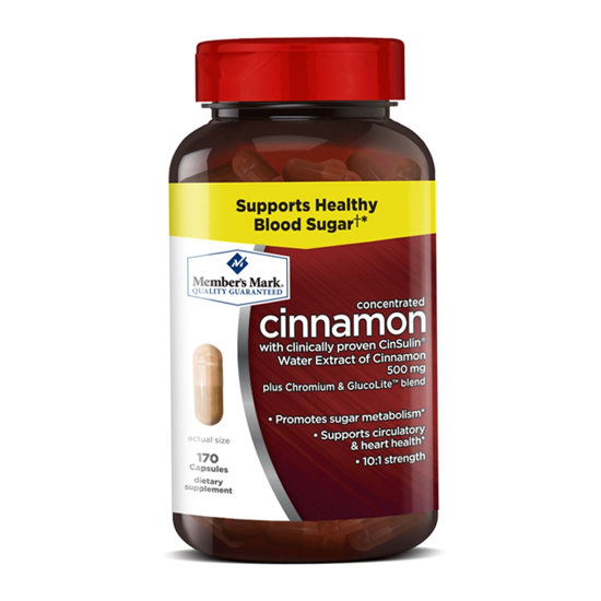 Picture of Member's Mark 500mg Cinnamon Dietary Supplement (170 ct.)