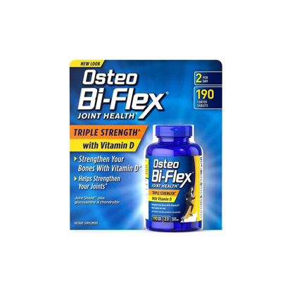 Picture of Osteo Bi-Flex Triple Strength Glucosamine Chondroitin MSM with Vitamin D - 190 Caplets