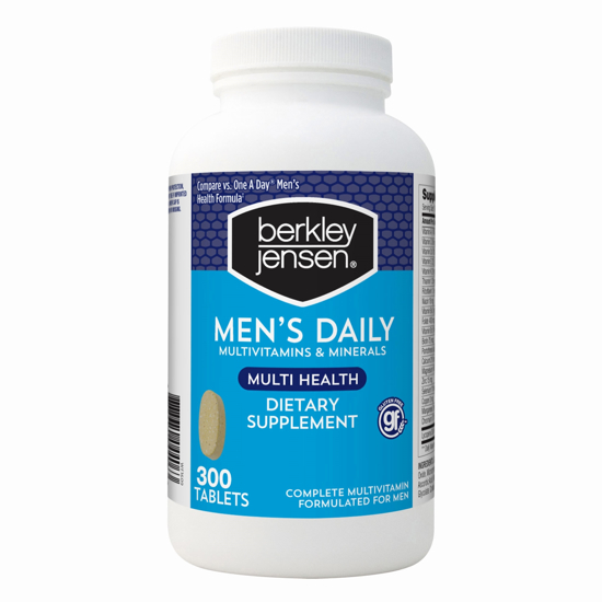 Picture of Berkley Jensen Men's Daily Multivitamins and mine Supplement Tablets  300 Count