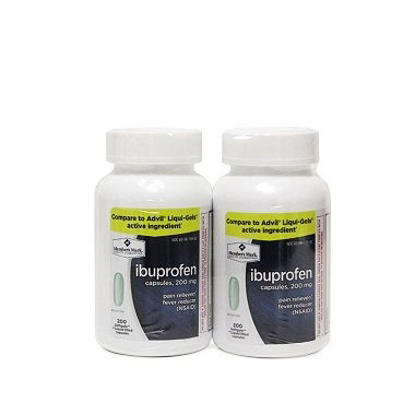 Picture of Simply Right - Ibuprofen Softgels 200 mg, 400 Liquid Filled Capsules (Compare to Advil)