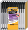 Picture of BIC Cristal Stick Medium 1.0mm Ballpoint Pens, 60 ct. Black