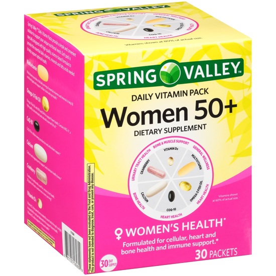 Picture of Spring Valley™ Women 50+ Daily Vitamin Pack Dietary Supplement 30 ct Box