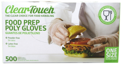 Picture of Disposable Gloves Food Preparation Poly Gloves Disposable Food Gloves Latex & Powder Free 3 Box 1500 Gloves
