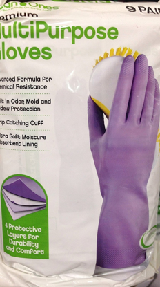 Picture of Multipurpose Household Gloves Large 9 Pairs