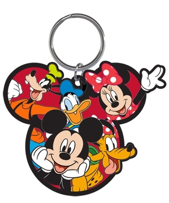 Picture of Disney Gang Mickey Goofy Donald Pluto Minnie Laser Keychain